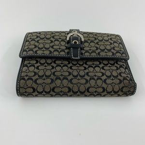 Coach Bags - Coach Trifold Signature Fabric Wallet